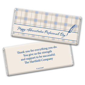 Employee Appreciation Personalized Chocolate Bar Wrappers Plaid Administrative Professionals Day