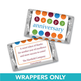 Employee Appreciation Personalized Hershey's Miniatures Wrappers Polka Dots Administrative Professionals Day
