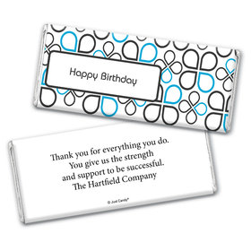 Birthday Personalized Chocolate Bar Wrappers Infinity Clover Pattern