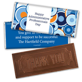 Personalized Administrative Professionals Day Colorful Circles Embossed Thank You Chocolate Bar