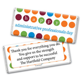 Personalized Administrative Professionals Day Colorful Dots Chocolate Bar