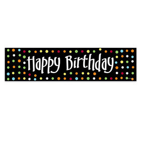 Personalized Happy Birthday Polk Dots 5 Ft. Banner