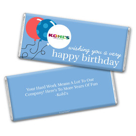 Personalized Birthday Add Your Logo Balloons Chocolate Bar & Wrapper