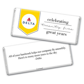 Personalized Corporate Anniversary Add Your Logo Celebration Chocolate Bar & Wrapper