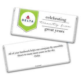 Personalized Corporate Anniversary Add Your Logo Celebration Chocolate Bar Wrappers Only
