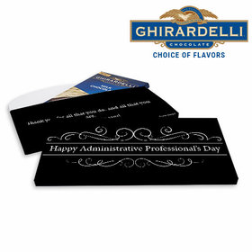 Deluxe Personalized Business You Deserve It Ghirardelli Chocolate Bar in Gift Box