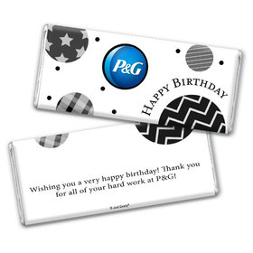 Personalized Birthday Add Your Logo Circles Chocolate Bar & Wrapper