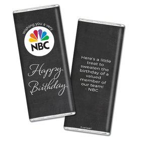Personalized Birthday Add Your Logo Script Chocolate Bar & Wrapper