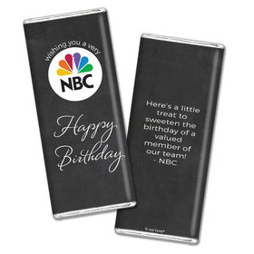 Personalized Birthday Add Your Logo Script Chocolate Bar Wrappers Only