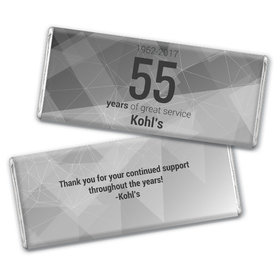Personalized Corporate Anniversary Geometric Chocolate Bar & Wrapper