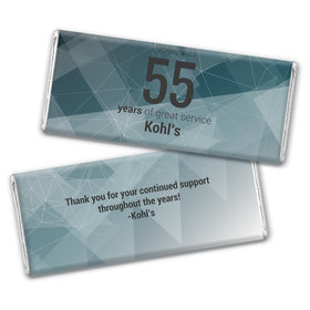 Personalized Corporate Anniversary Geometric Chocolate Bar Wrappers Only