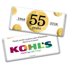 Personalized Corporate Anniversary Add Your Logo Golden Seal Chocolate Bar & Wrapper