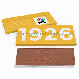 Deluxe Personalized Corporate Anniversary The Beginning Embossed Chocolate Bar in Gift Box