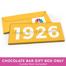 Deluxe Personalized Corporate Anniversary The Beginning Candy Bar Favor Box