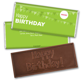 Personalized Add Your Logo Birthday of the Month Embossed Chocolate Bar & Wrapper
