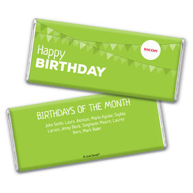 Personalized Add Your Logo Birthday of the Month Chocolate Bar & Wrapper
