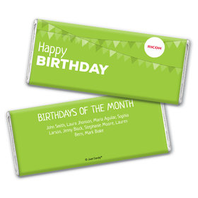Personalized Add Your Logo Birthday of the Month Chocolate Bar Wrappers Only