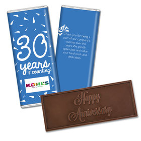 Personalized Anniversary Add Your Logo Confetti Embossed Chocolate Bar & Wrapper