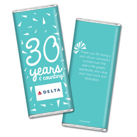 Personalized Birthday Add Your Logo Confetti Chocolate Bar Wrappers Only