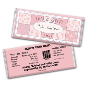baby girl announcement personalized chocolate bar it s a girl