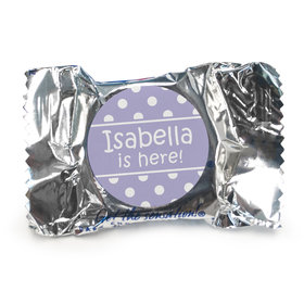 Baby Girl Announcement Personalized York Peppermint Patties Polka Dots