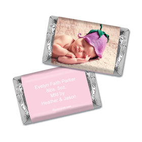 Personalized Girl Baby Announcement Mini Wrappers