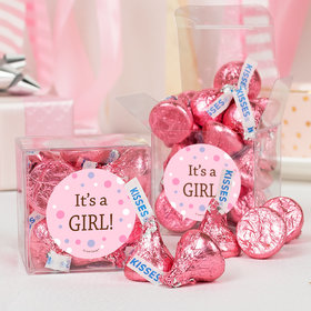 Baby Girl Birth Announcement Bubbles Clear Gift Box