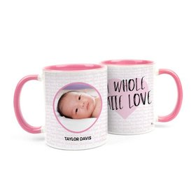 Personalized Baby Girl Announcement Latte Love 11oz Mug