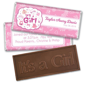 Personalized It's a Girl Bundle of Joy Embossed Chocolate Bar & Wrapper