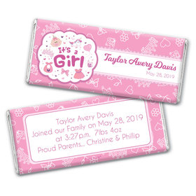 Personalized It's a Girl Bundle of Joy Chocolate Bar & Wrapper