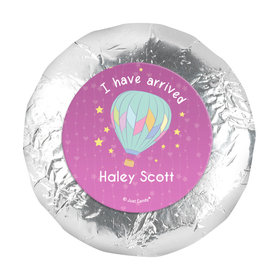 Personalized Girl Birth Announcement I Have Arrived 1.25in Stickers (48 Stickers)