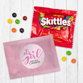 Personalized Girl Birth Announcement It™s a Girl Skittles