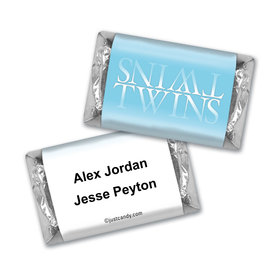 Twin Birth Announcement Personalized Hershey's Miniatures Reflection
