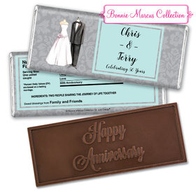 Bonnie Marcus Collection Personalized Embossed Chocolate Bar Chocolate and Wrapper Forever Together Anniversary Favors