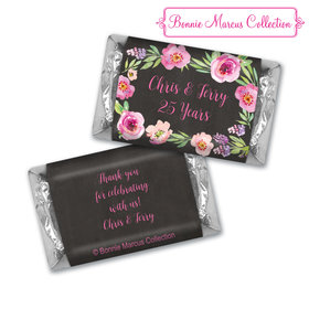 Bonnie Marcus Collection Chocolate Candy Bar & Wrapper Floral Embrace Anniversary Favors