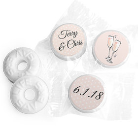 Personalized Bonnie Marcus Anniversary Bubbly Party Pink Life Savers Mints