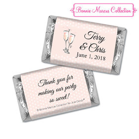 Personalized Bonnie Marcus Anniversary Pink Anniversary Bubbly Hershey's Miniatures