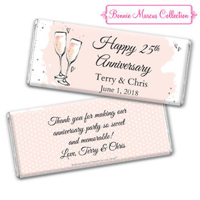 Personalized Bonnie Marcus Anniversary Pink Bubbly Chocolate Bar