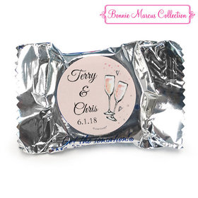 Personalized Anniversary Bubbly Party Pink York Peppermint Patties