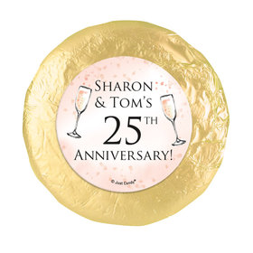 Personalized Anniversary Champagne Party Chocolate Covered Oreos