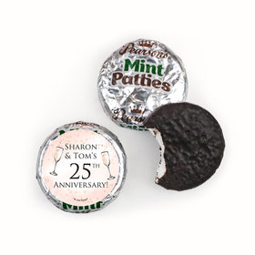 Personalized Anniversary Champagne Party Pearson's Mint Patties