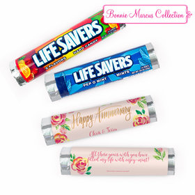 Personalized Anniversary Floral Lifesavers Rolls (20 Rolls)