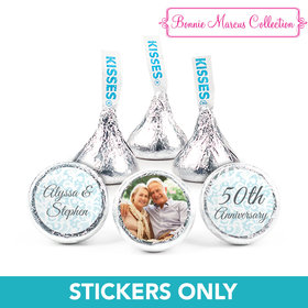 "Personalized Bonnie Marcus Anniversary Vintage Linen 3/4"" Stickers (108 Stickers)"