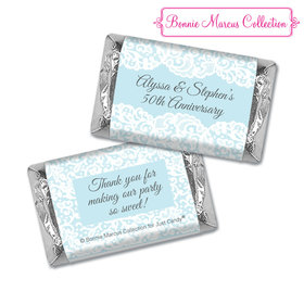 Personalized Bonnie Marcus Anniversary Lace Linen Hershey's Miniatures