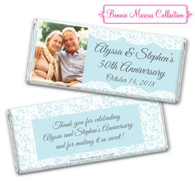 Personalized Bonnie Marcus Anniversary Lace Linen Chocolate Bar & Wrapper