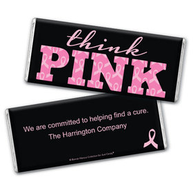 Personalized Bonnie Marcus Breast Cancer Awareness Pink Power Chocolate Bar & Wrapper