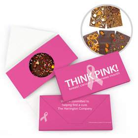 Personalized Bonnie Marcus Breast Cancer Awareness Simply Pink Gourmet Infused Belgian Chocolate Bars (3.5oz)