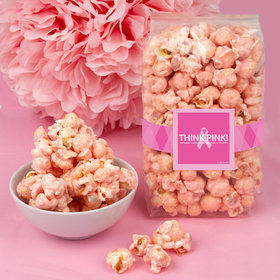 Breast Cancer Awareness Simply Pink Candy Coated Popcorn 8 oz Bags