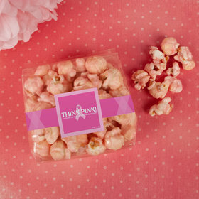 Breast Cancer Awareness Simply Pink Candy Coated Popcorn 3.5 oz Bags