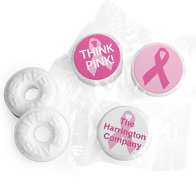 Personalized Bonnie Marcus Breast Cancer Awareness Simply Pink Life Savers Mints
